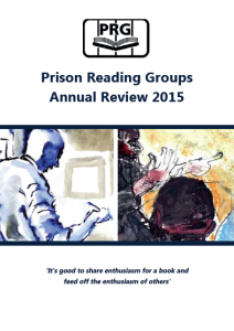 Prison Reading Groups Annual Review 2015 cover